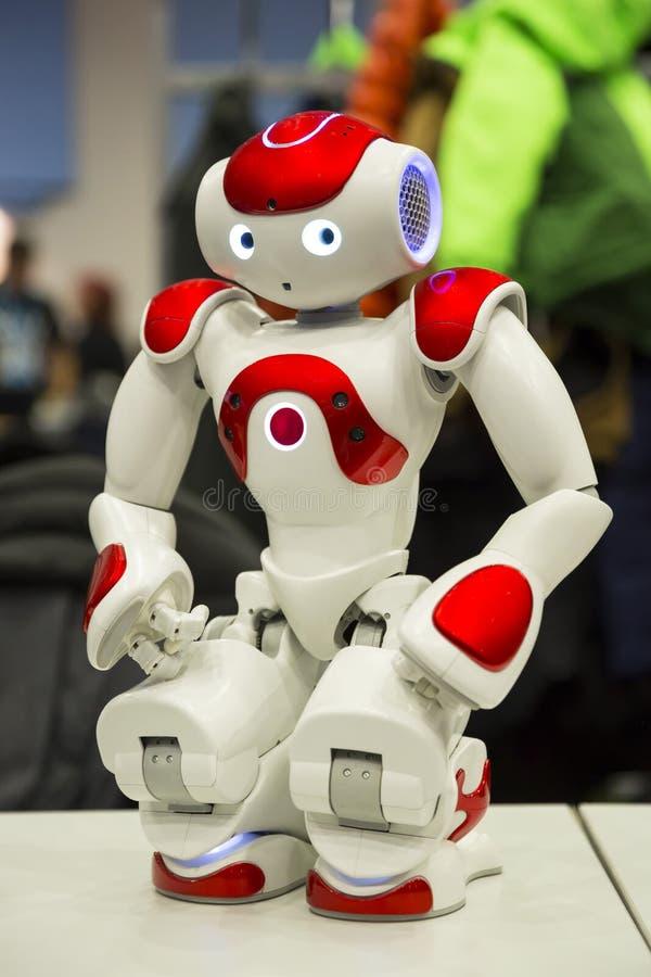 Programmerbar robot för utbildning royaltyfria foton