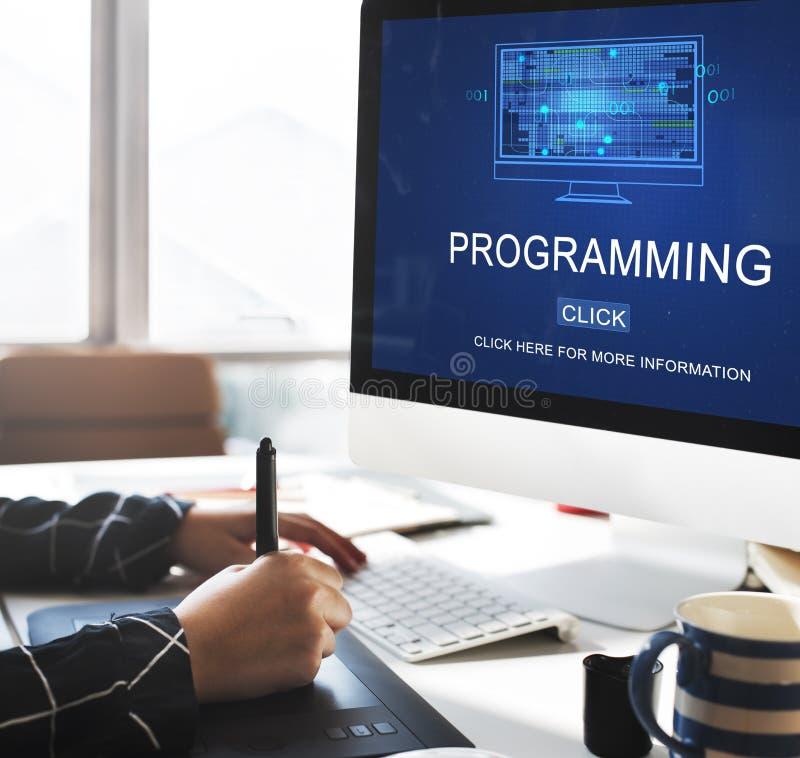 Programmerend het Apparaten Digitaal Concept van de Gegevensontwikkeling stock foto's