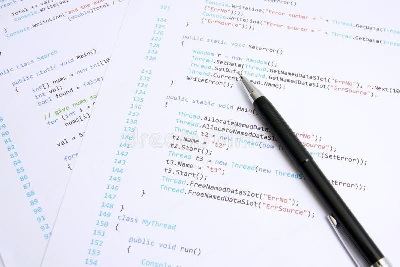 Programmering stock afbeeldingen