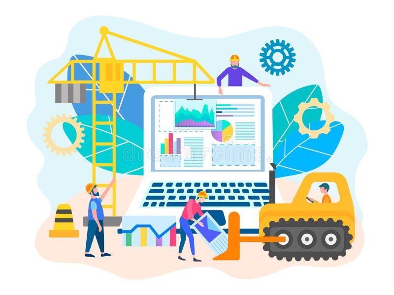 Programmering en reparatie van computers stock illustratie