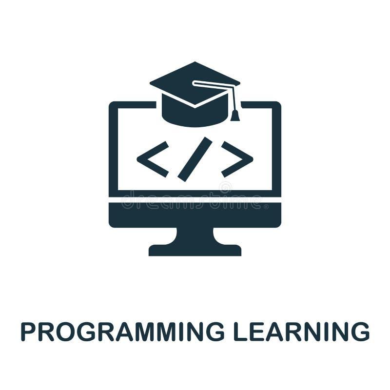 Programmering het Leren pictogram Creatief elementenontwerp van de inzameling van programmeurspictogrammen Pixel het perfecte Pro royalty-vrije illustratie
