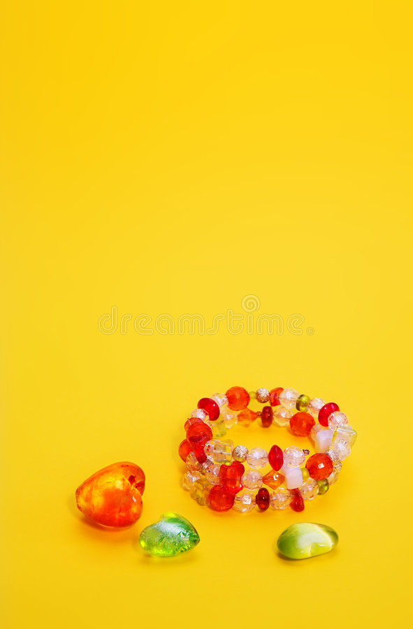 Programmes en verre et bracelet image stock