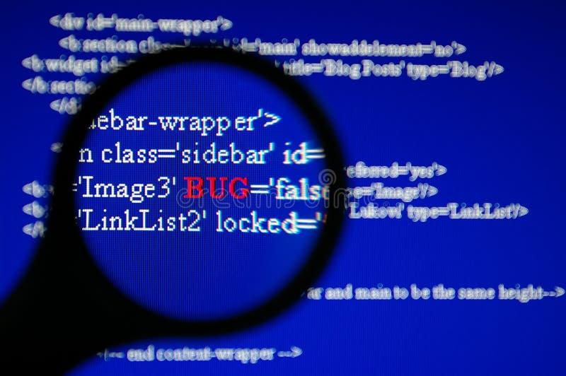 Programmfehler-Gleichlauf lizenzfreies stockbild