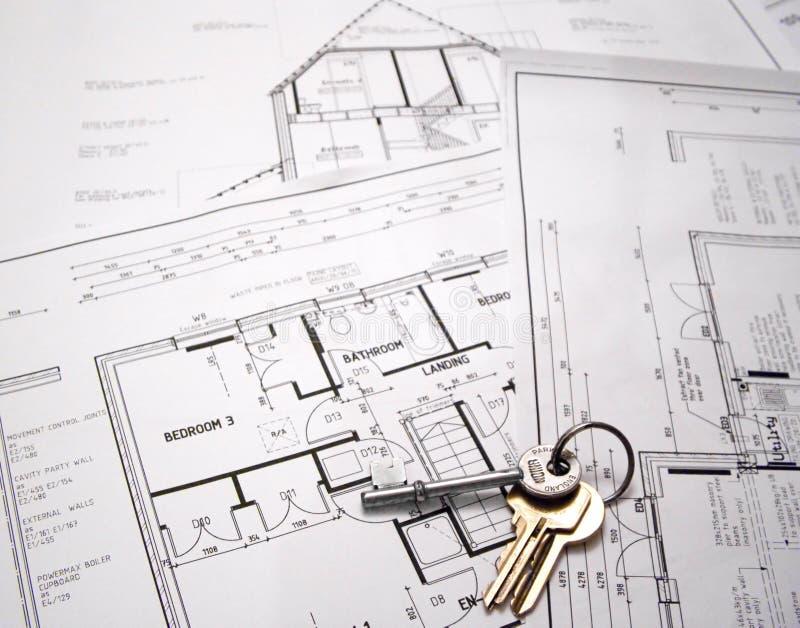 Programmi architettonici con i tasti immagine stock