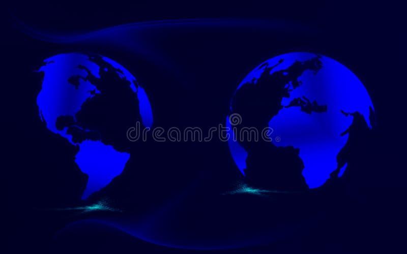 Programmi blu illustrazione di stock