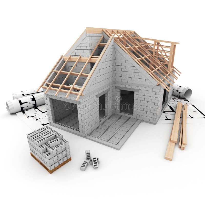 Programmi di costruzione di alloggi illustrazione di stock for Programmi 3d architettura