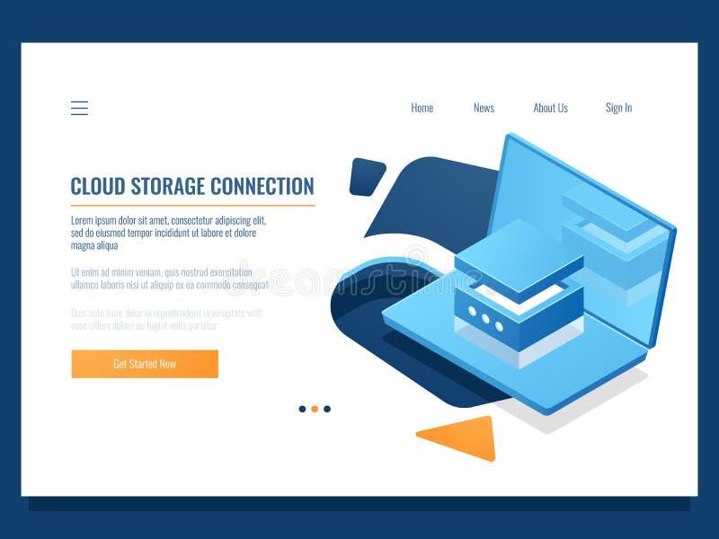 Programmi lo sviluppo del prodotto, la programmazione ed accesso creare, della base di dati e del centro dati dell'applicazione,  illustrazione di stock