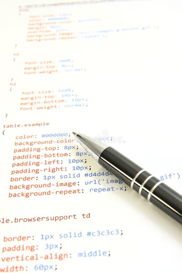 Programmierenhtml stockfoto
