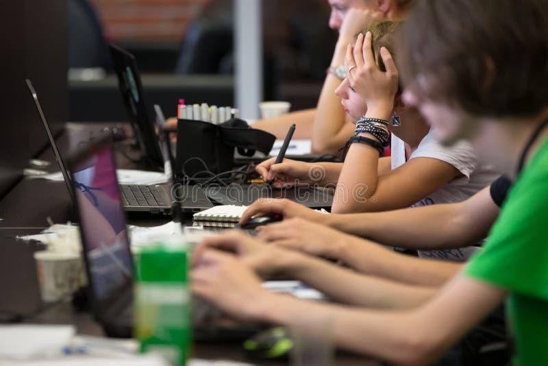 Programmierer bei der Arbeit lizenzfreies stockfoto