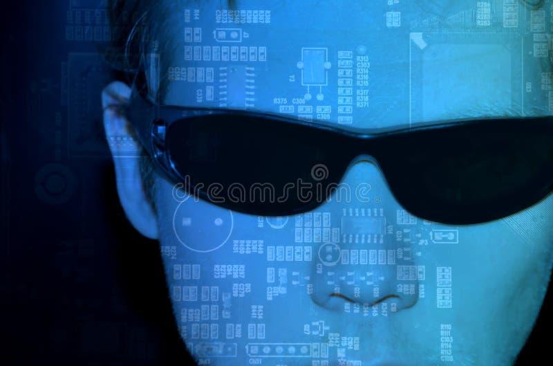 Programmierer am Computer lizenzfreie abbildung