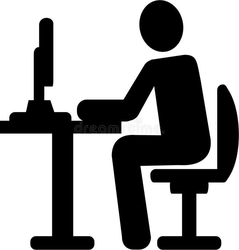 Programmierer Pictogram Symbol stock abbildung