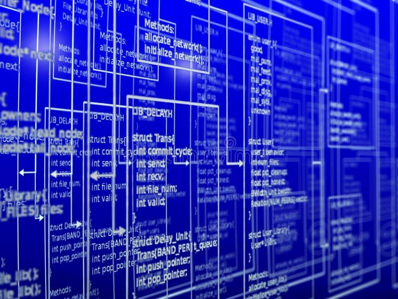 Programmierung des Erfolgs lizenzfreie abbildung