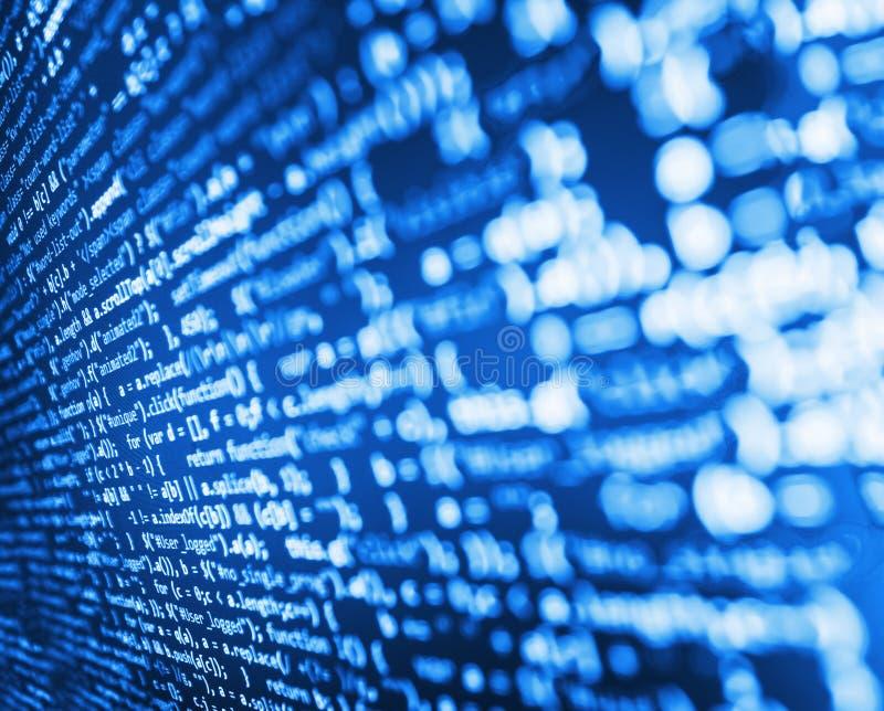 Programmierungskodierungsquellcodeschirm stockbilder