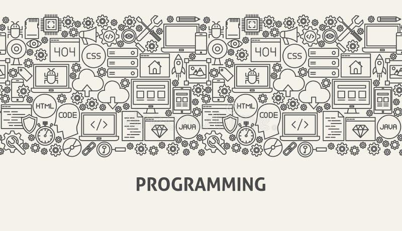 Programming Banner Concept. Vector Illustration of Line Web Design vector illustration