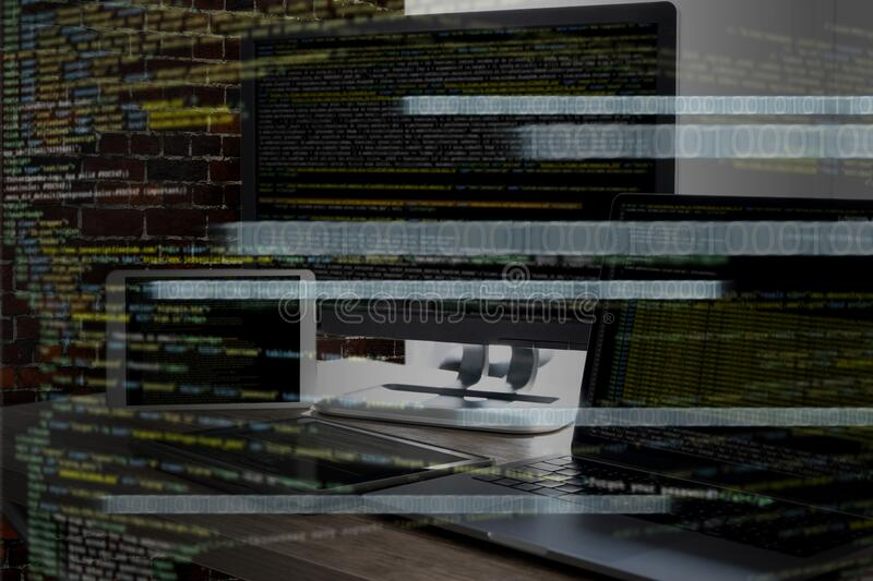 Programming code abstract technology background Developer programming and coding technology  software developer and Computer. Script d royalty free stock images