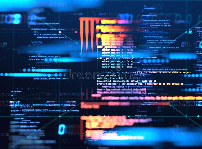 Programming code abstract technology background of software developer and Computer script royalty free illustration