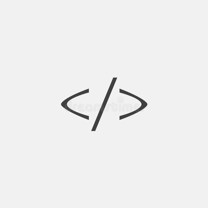 Programming code icon vector. Illustration, flat icon vector stock photos