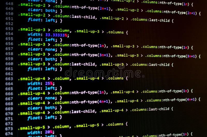 Programming code. Abstract technology background  concept. software developer stock photography
