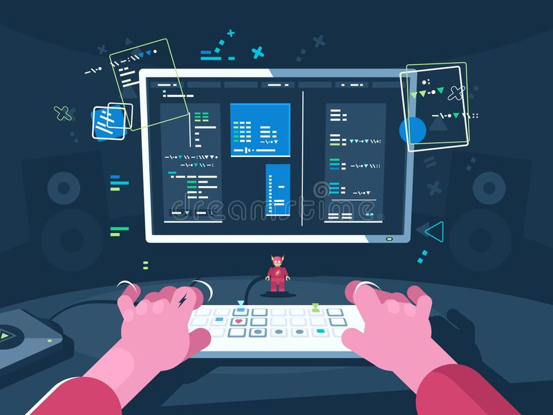 Programming and coding royalty free illustration