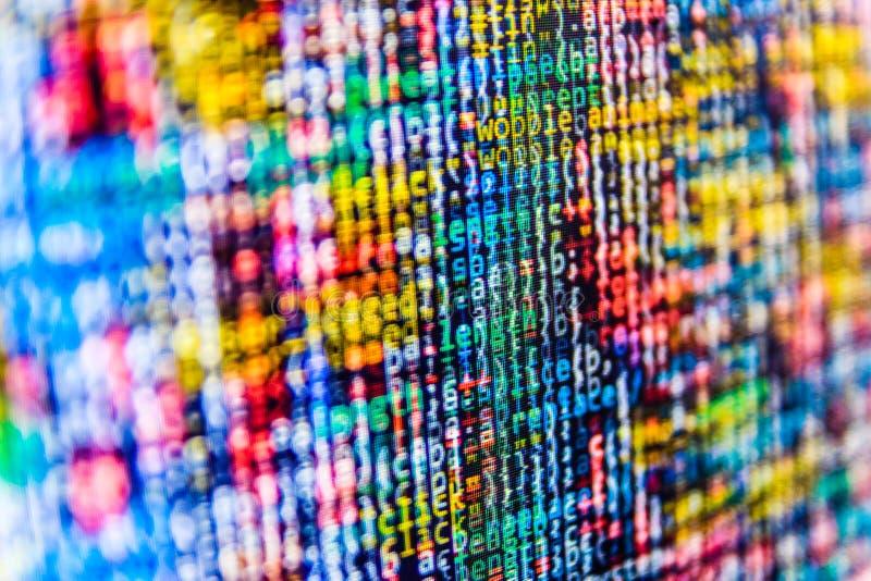 Programming coding source code screen. stock photo