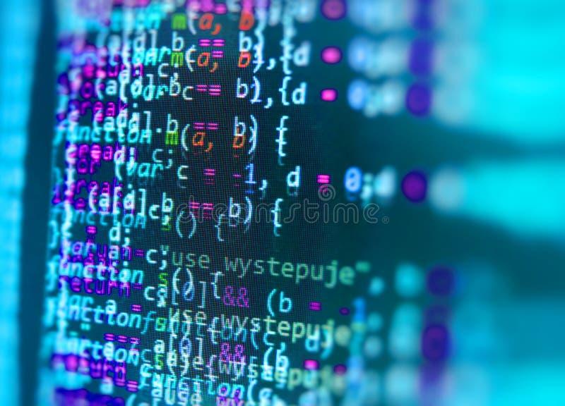 Programming Coding Source Code Screen Stock Illustration
