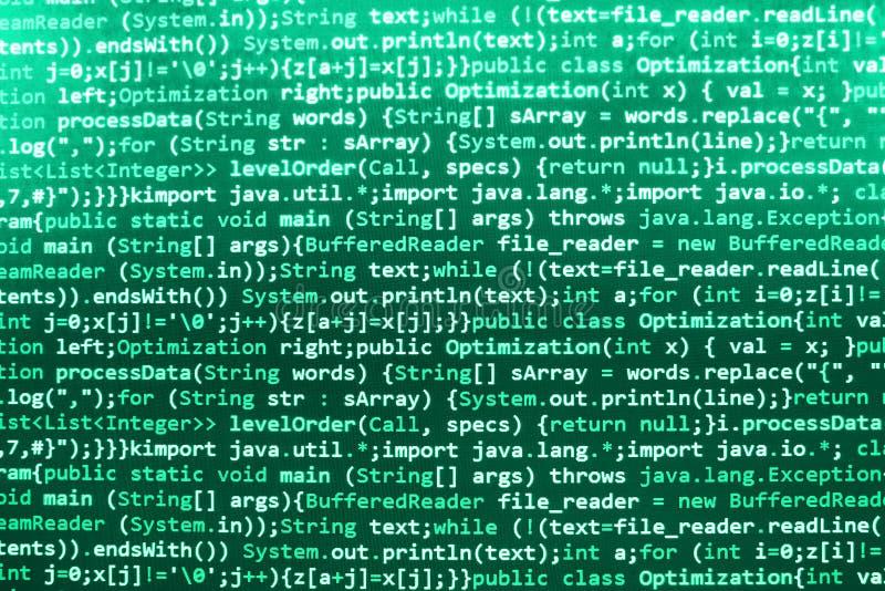 Programming coding source code screen. Programming code abstract screen software developer. Computer script royalty free stock image