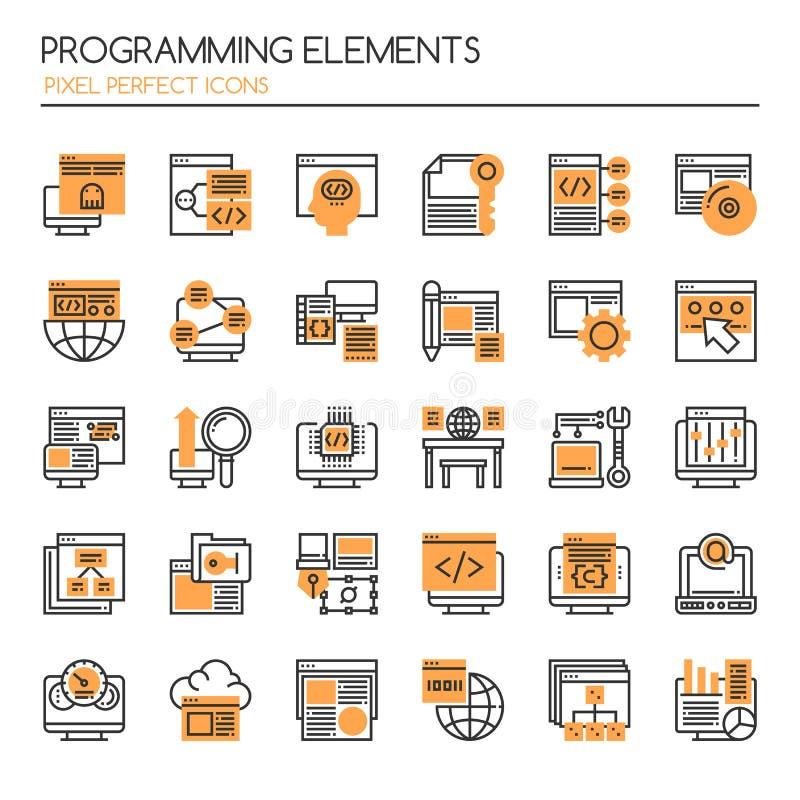Programming Elements royalty free illustration