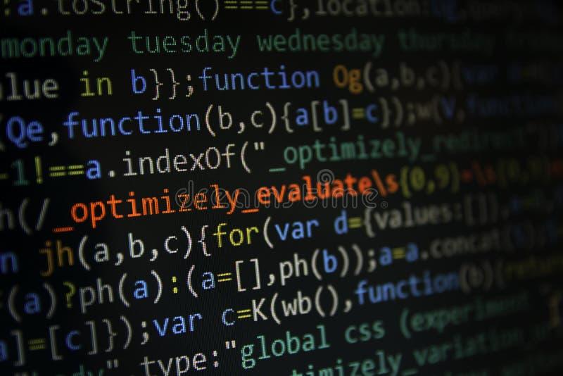 Programować kodu ekran deweloper oprogramowania Komputer zdjęcia stock