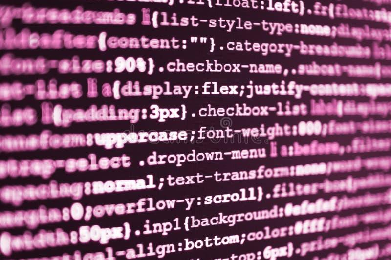 Programować kodu pisać na maszynie obraz stock