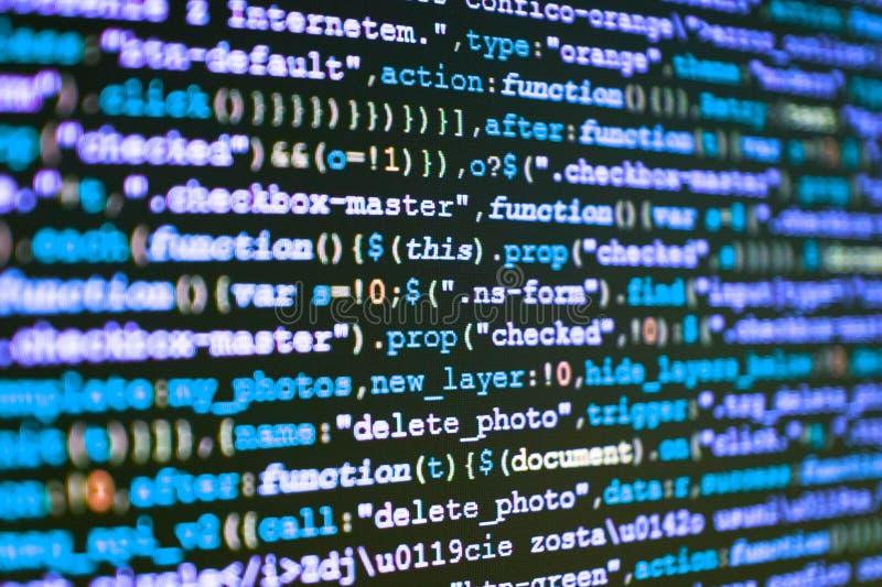 Programować kodu pisać na maszynie IT specjalisty miejsce pracy obraz royalty free