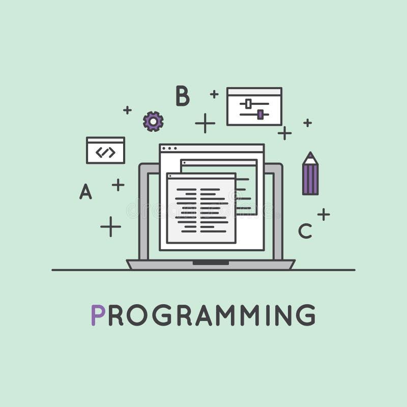 Programowania i sieci rozwój royalty ilustracja