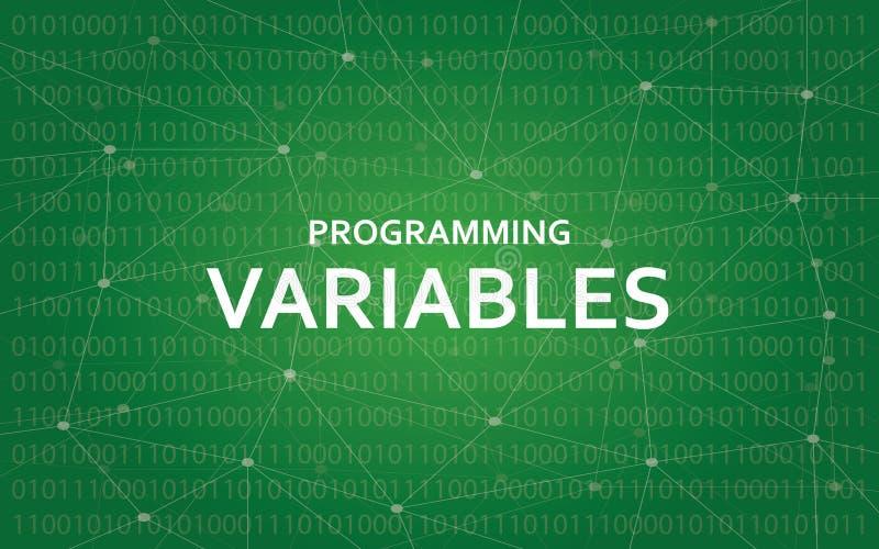Programowanie zmiennów teksta biała ilustracja z zieloną gwiazdozbiór mapą jako tło royalty ilustracja
