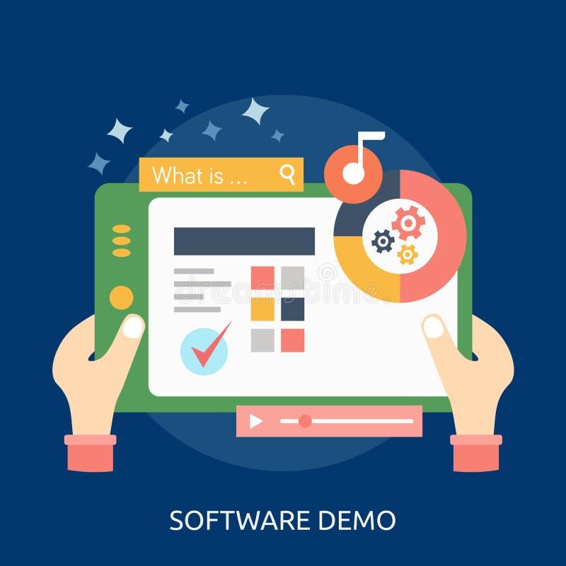 Programvara Demo Conceptual Design vektor illustrationer