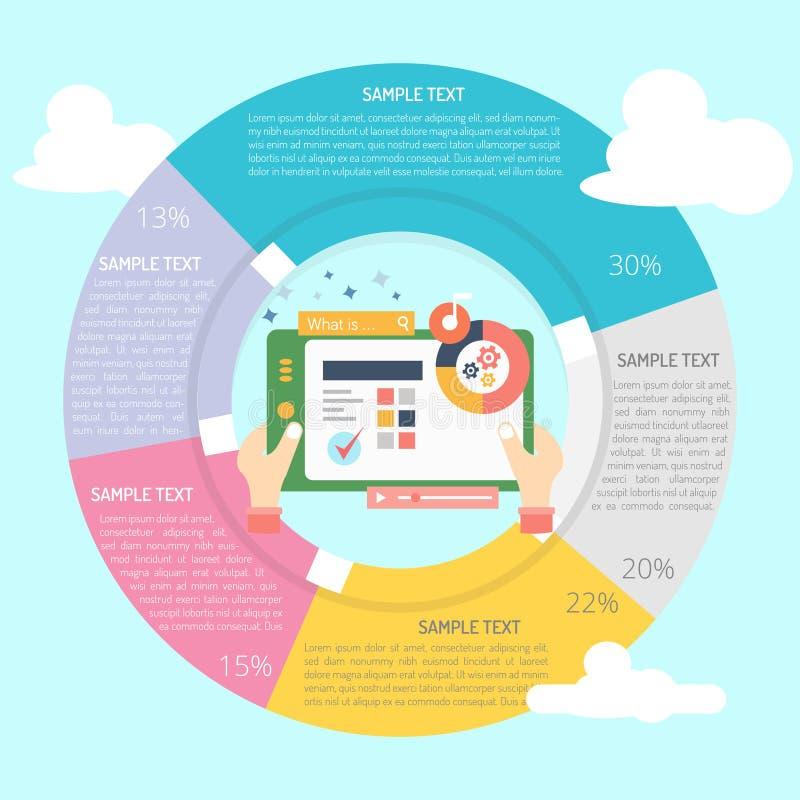 Programvara Demo Infographic Diagram vektor illustrationer