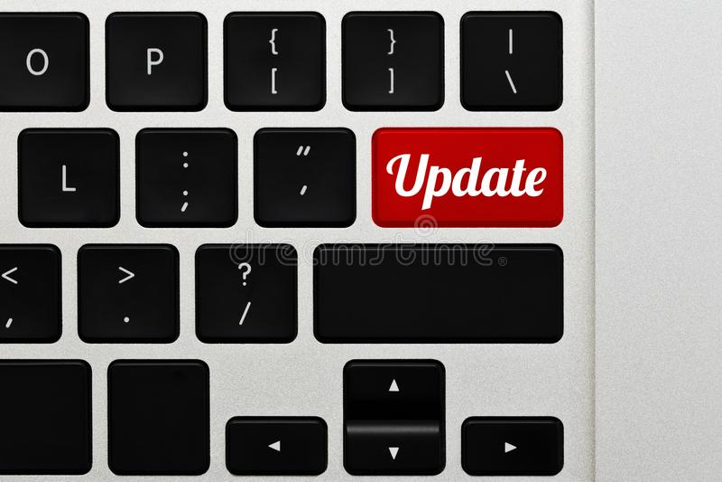 Programvara eller maskinvara som uppdaterar begrepp royaltyfri bild