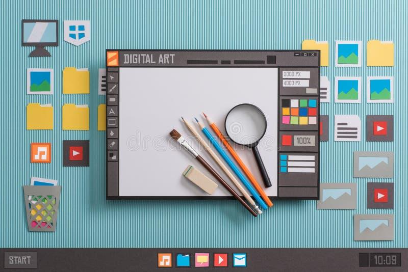 Programvara för grafisk design royaltyfri fotografi