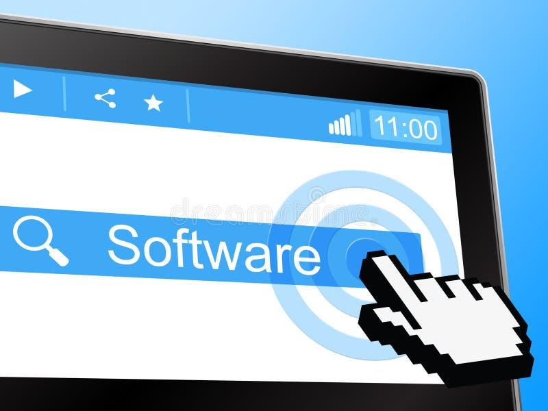 Programvara föreställer direktanslutet world wide web och att programmera vektor illustrationer