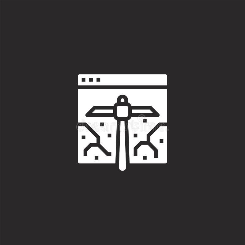 Programvarusymbol Fylld programvarusymbol för websitedesignen och mobilen, apputveckling programvarusymbol från fyllda digitala p vektor illustrationer