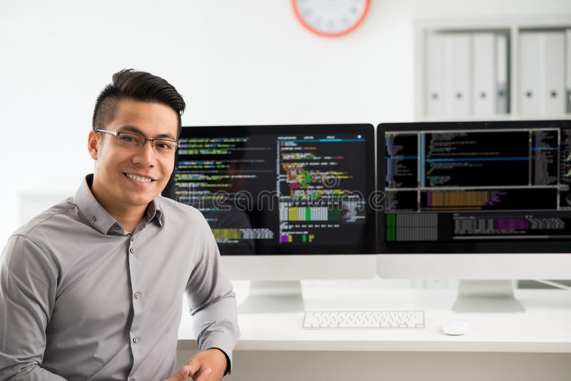 Programvarutekniker arkivbild