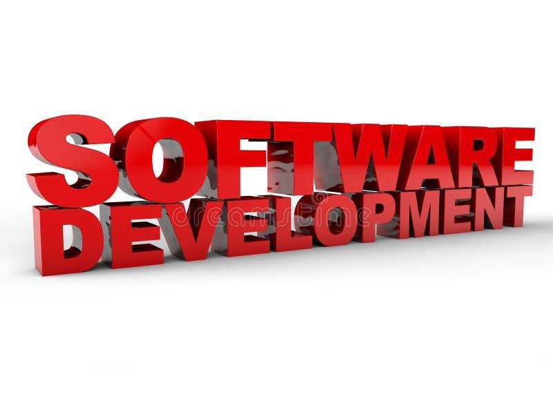Programvaruutveckling stock illustrationer