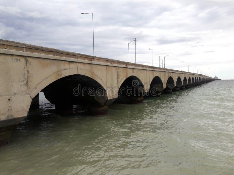 Progreso港在尤加坦 免版税库存图片