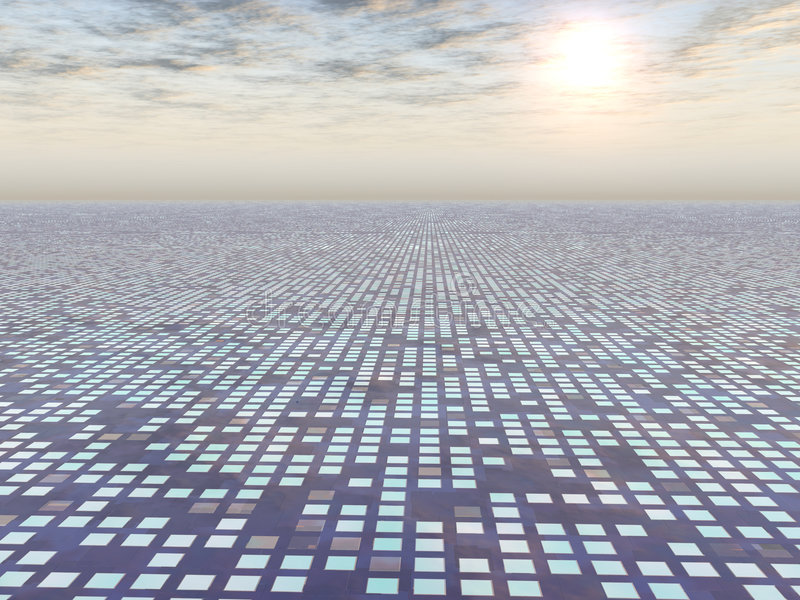 Progreso de la red a la luz ilustración del vector