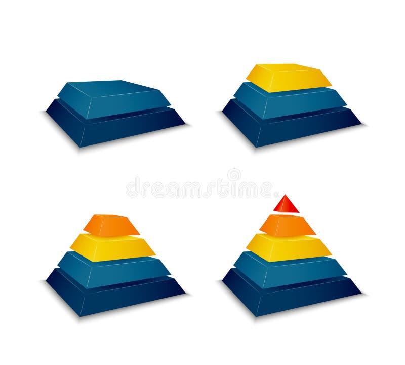 Progreso del edificio de la pirámide libre illustration