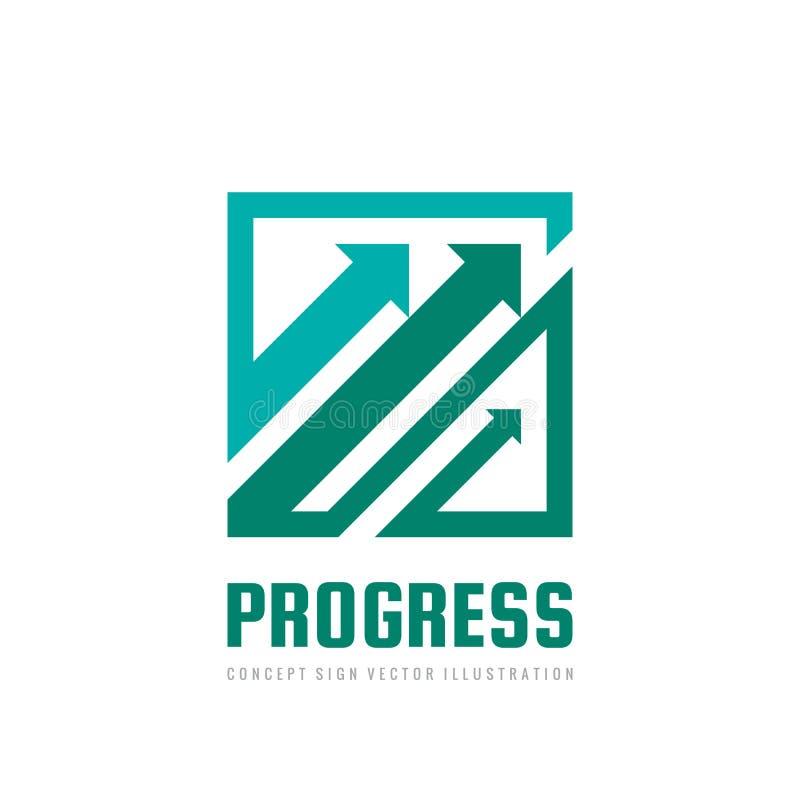 Progreso - ejemplo del vector de la plantilla del logotipo del negocio del concepto Muestra creativa del sistema abstracto de las libre illustration