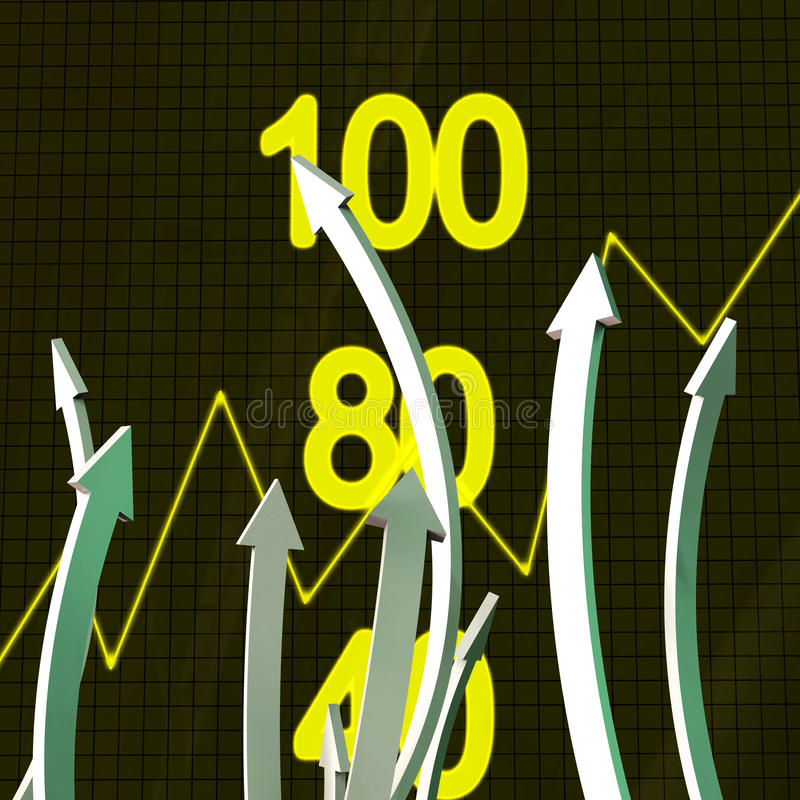 Progress Arrows Represents Business Graph And Advance vector illustration