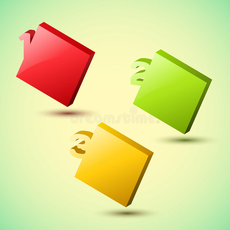 Progress background / product choice or versions. stock illustration