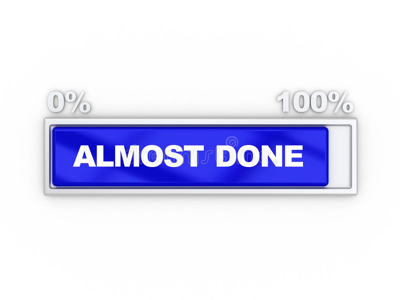 Progress bar stock illustration