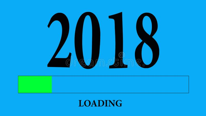Progress Bar Loading 2018 stock illustration