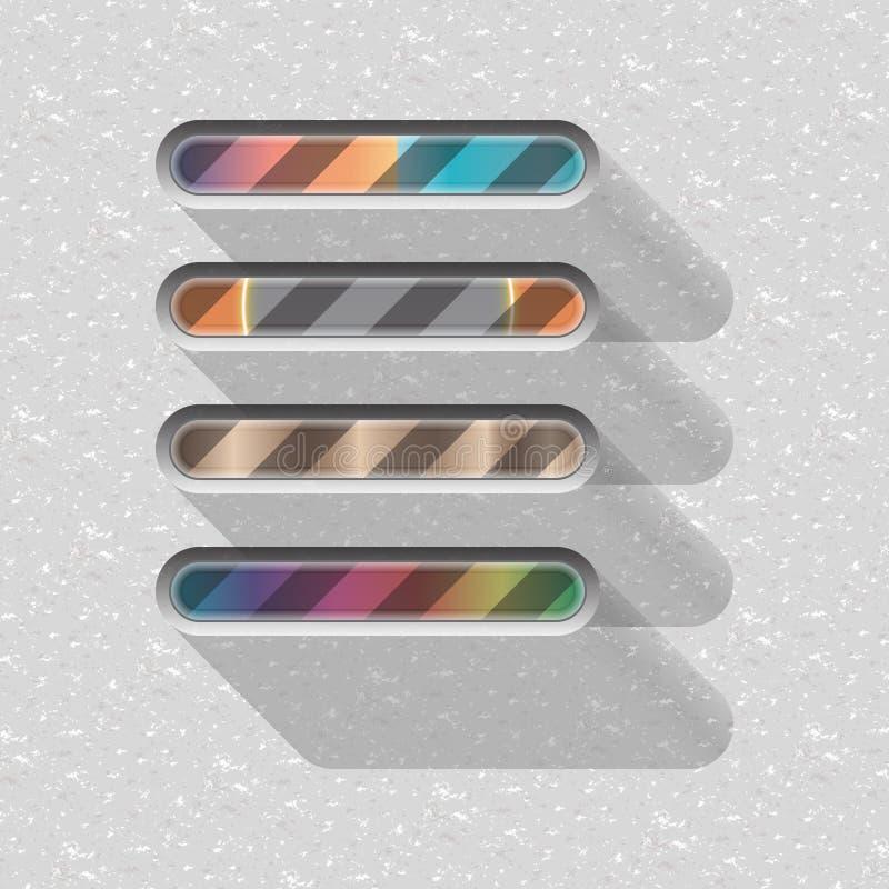 Progress bar with long shadow vector illustration