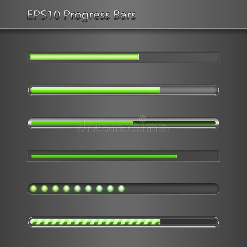 Progress Bars vector illustration